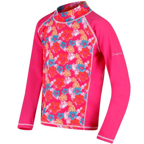 Regatta HOBEY SWIMMING TOP - Hot Pink Tropical Print